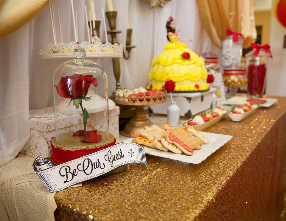 Belle Beauty And The Beast Birthday Belle Theme First Birthday Magnificent Belle Birthday Decorations