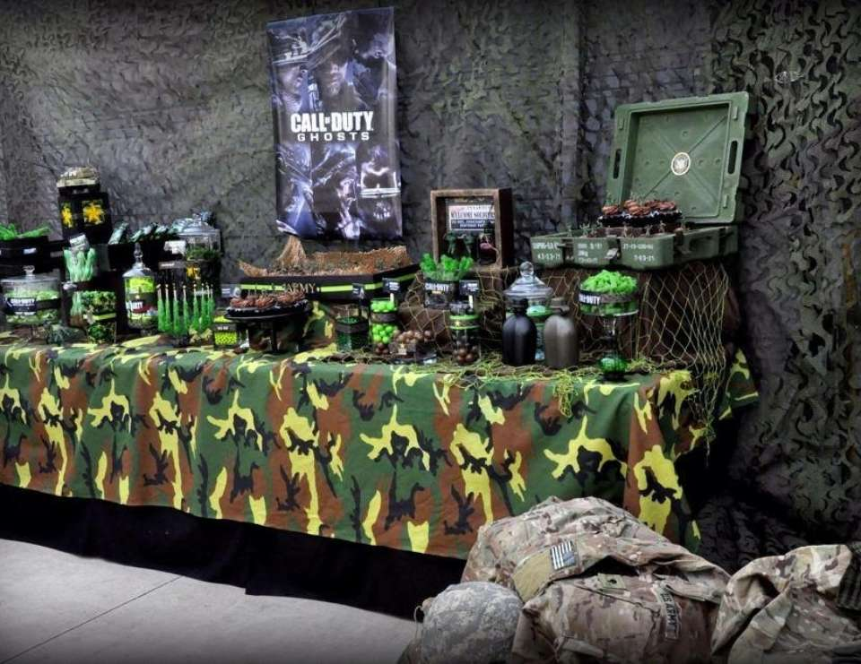 Call of duty military birthday call of duty catch my for Army party decoration