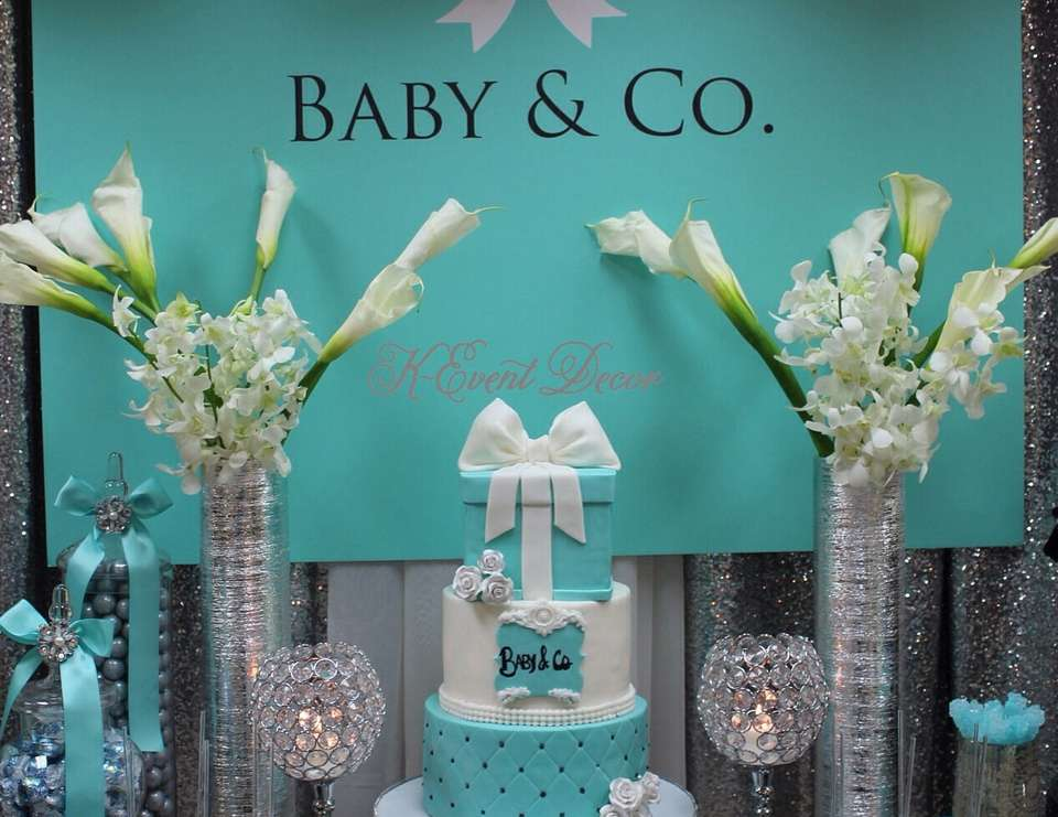 tiffany 39 s baby shower baby co catch my party