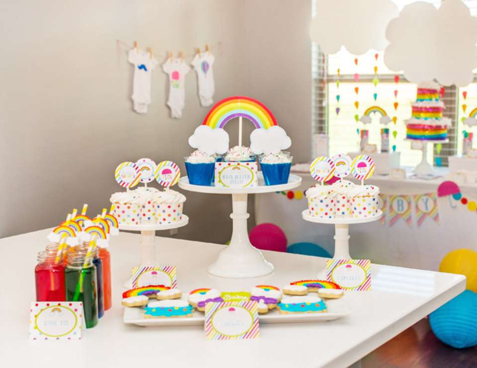 Elegant Rainbow Baby Shower + FREE Printables   Rainbows