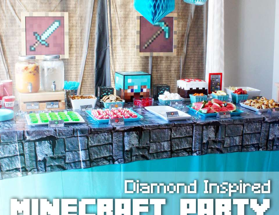 Diamond's Are A Birthday Boys Best Friend - Minecraft