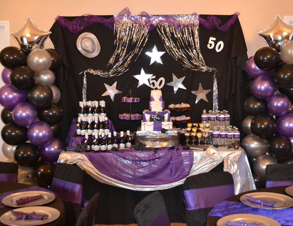 Birthday purple rain 50th birthday bash catch my party for 50th birthday party decoration