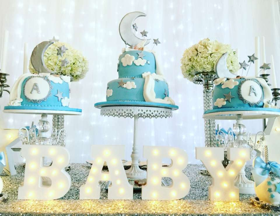 Stars moon baby shower twinkle twinkle little star for Baby shower decoration ideas blog