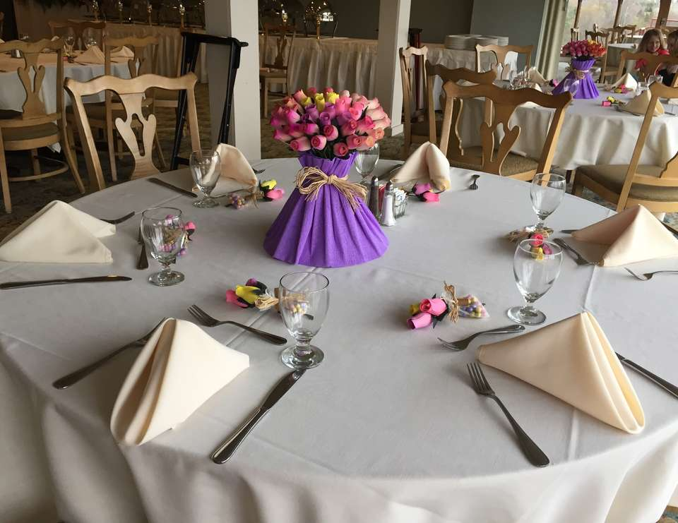 First Communion Table Settings