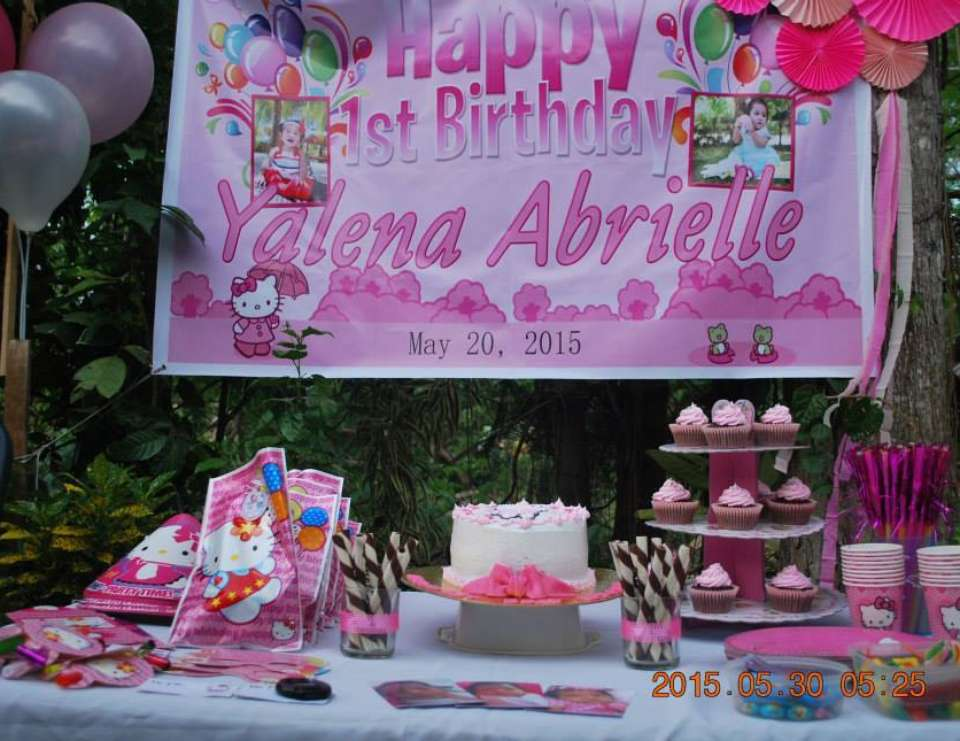Hello Kitty Birthday Yalenas 1st Birthday Party Samal Version A