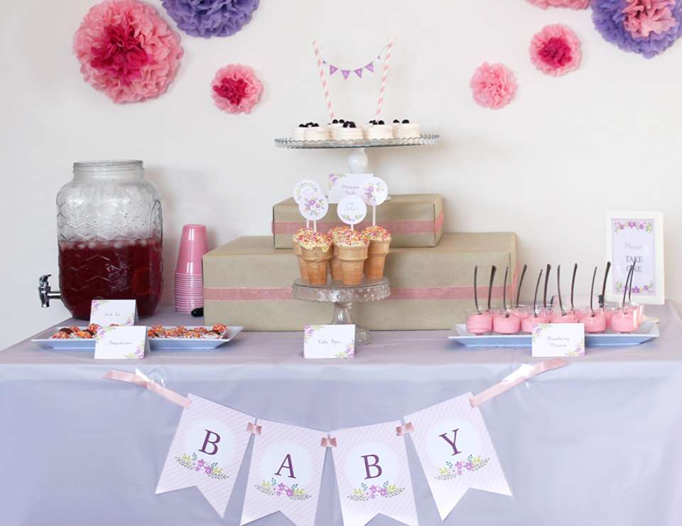 Floral Baby Shower - None