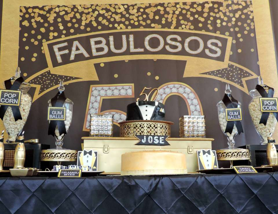 Fabulous 50th - Black and Gold Tuxedo