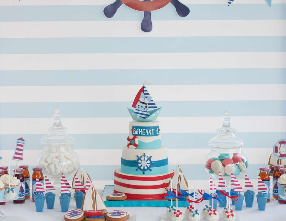 1st birthday - Nautical