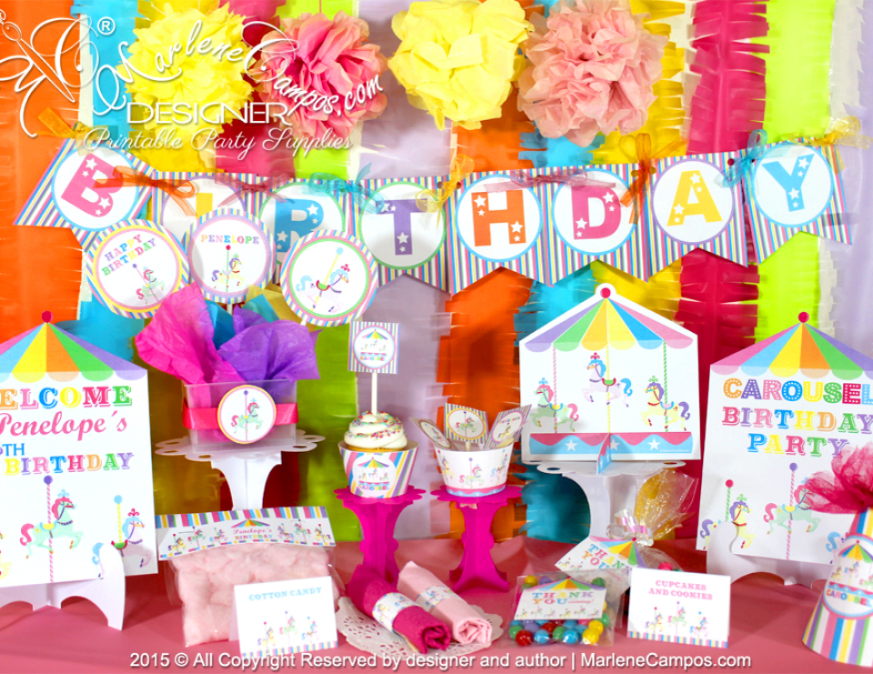 Carousel Birthday Party  - Carnival/Circus
