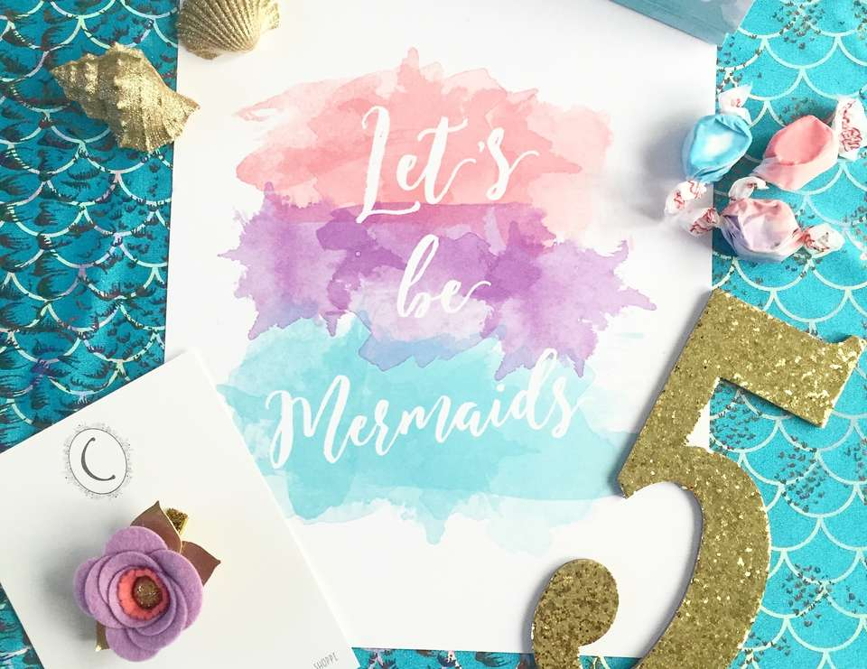 Stella's Water Color Mermaid Party - Mermaids