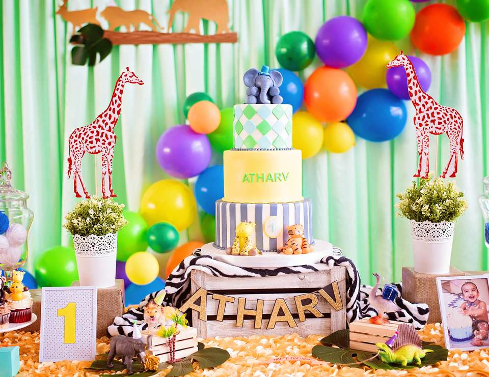 Atharv's First Birthday  - Party animals theme