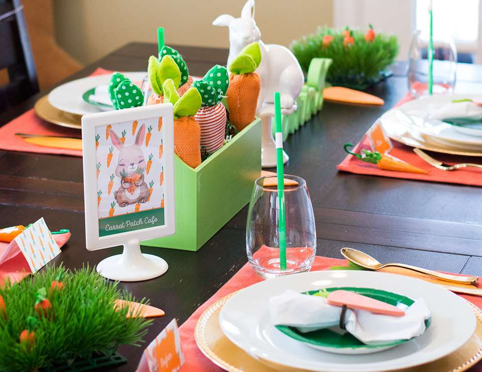 Carrot Patch Easter Table Setting - Carrot Patch