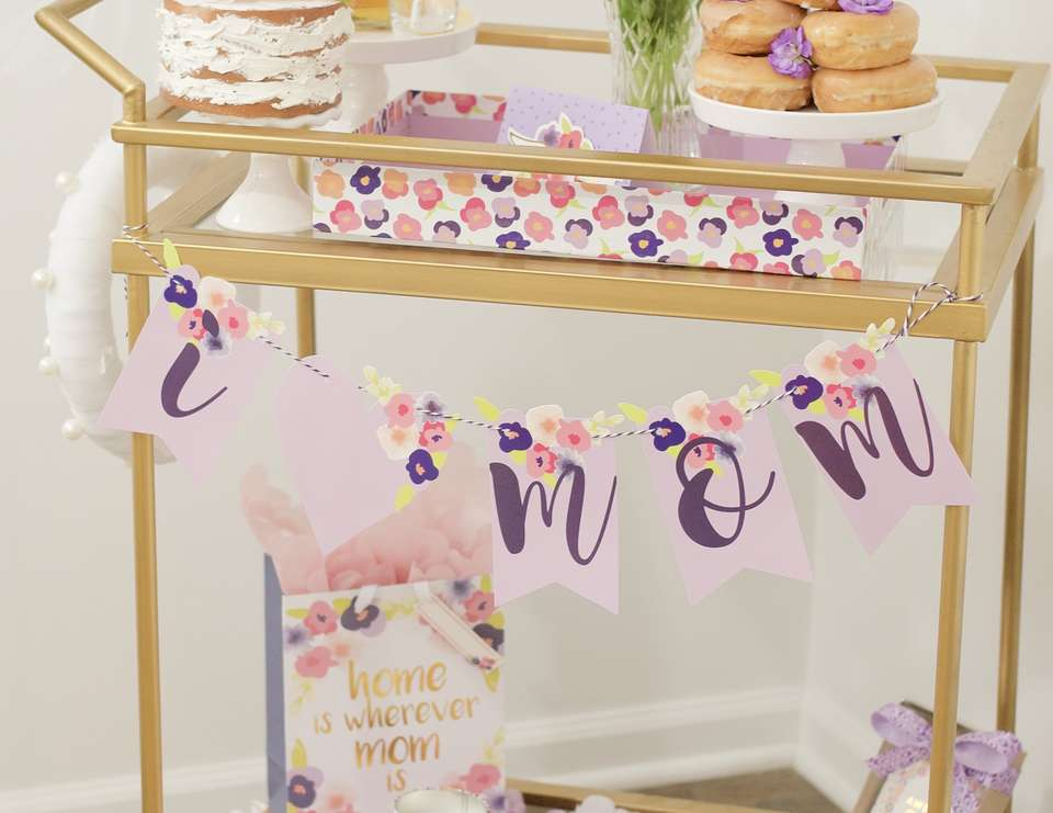 Mother's Day Bar Cart - Blooms for Mom