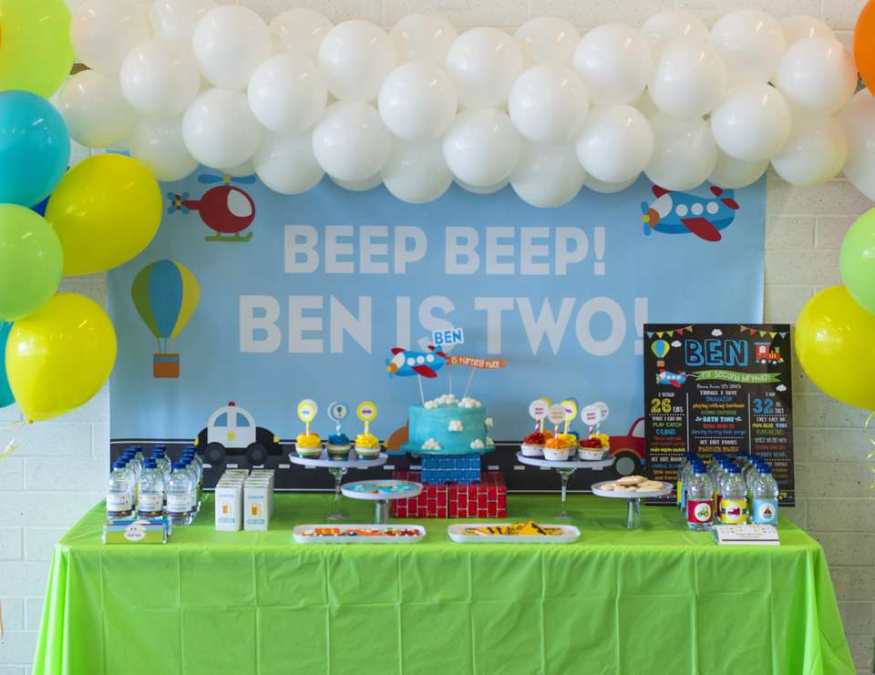 Beep Beep! Ben is Two! - Transportation