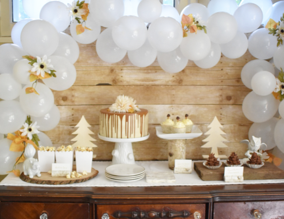 Woodland in White Fall Dessert Party - Woodland