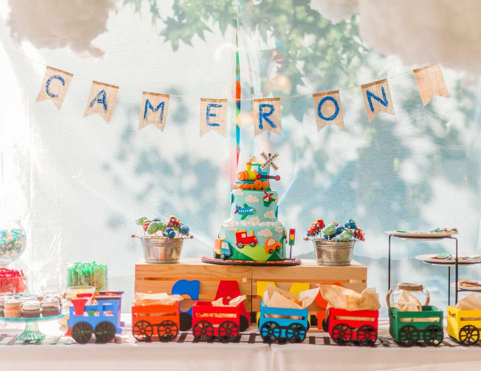 Cameron's 1st Birthday - Planes, Trains and Automobiles - Plains, Trains and Automobiles
