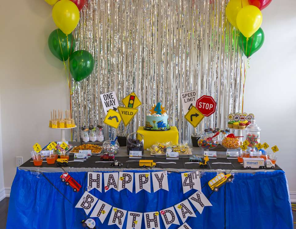 Riyaan's Transportation 4th Birthday party  - Transportation Birthday