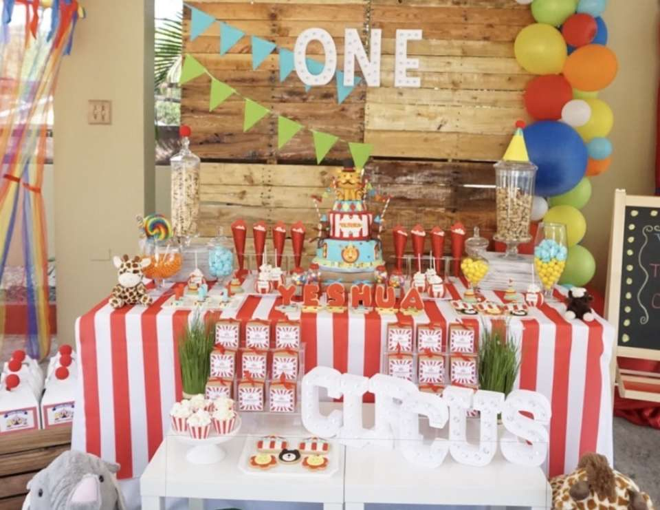 Circus First Birthday party - Circus / Carnival