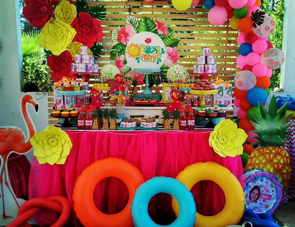 Fiesta de piscina birthday party ideas in 2018 cumpleaos de - Ideas para cumpleanos en piscina ...