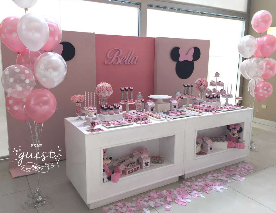 Minnie Mouse Birthday Bella S Minnie Mouse 1st Birthday Party