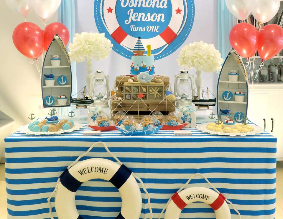 nautical theme birthday nautical birthday party catch my party. Black Bedroom Furniture Sets. Home Design Ideas