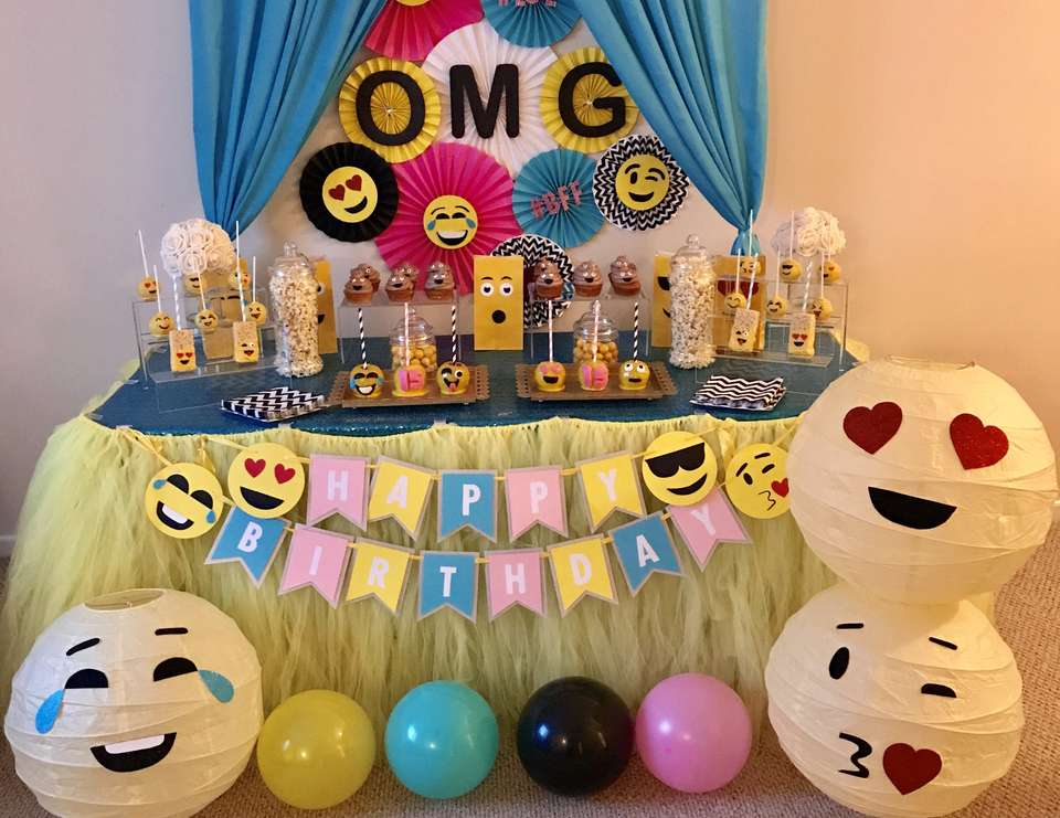 Emoji Themed 15th Birthday Party