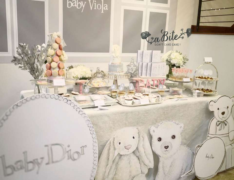 Baby Dior Birthday Baby Violas Dior Inspired Party Catch My Party