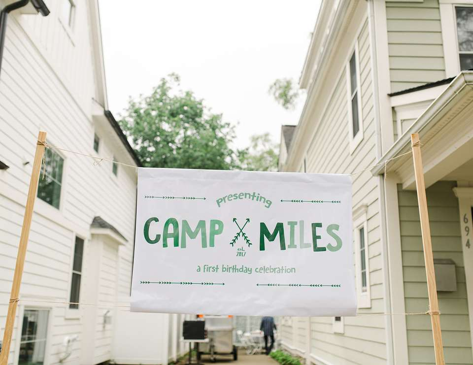Miles' Camp Themed First Birthday Party - Camping / Summer Camp