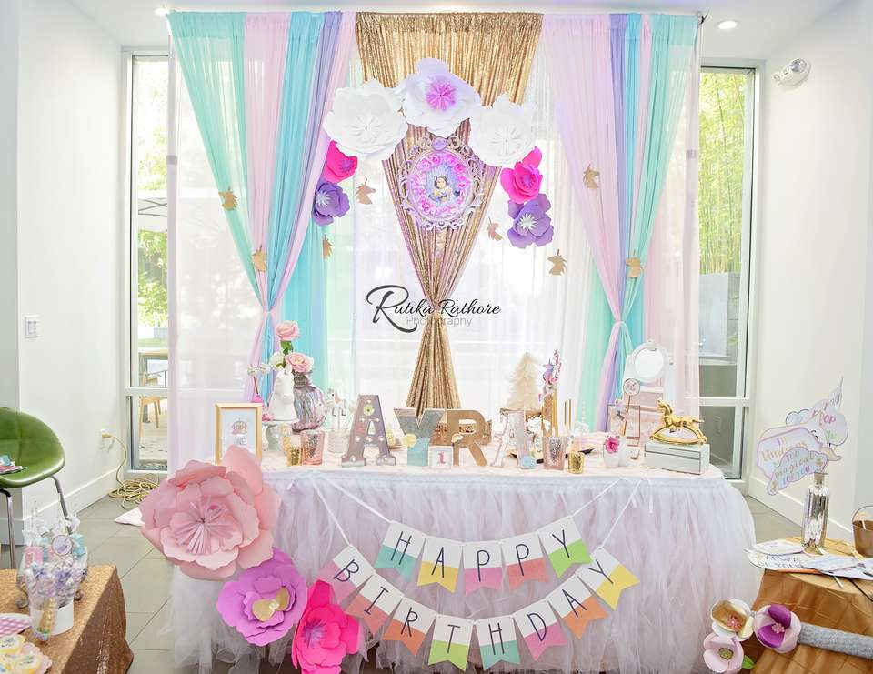 Ayra's Dazzling Rainbow  Party:'I believe in magic'  - Unicorn