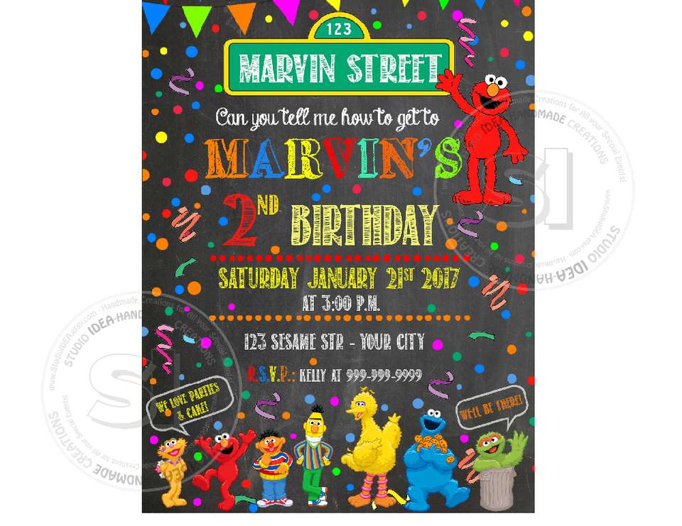 Elmo Birthday Printable Party - Sesame street