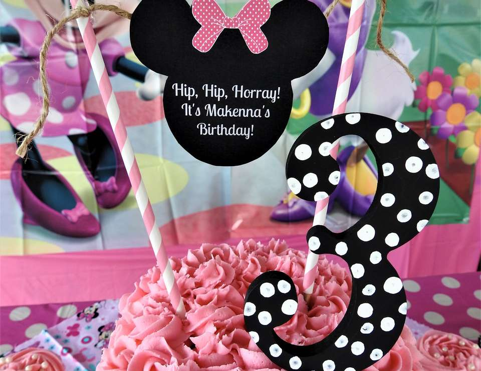 Cheers for Three Years! ~ Makenna's Minnie Mouse Birthday! - Minnie Mouse