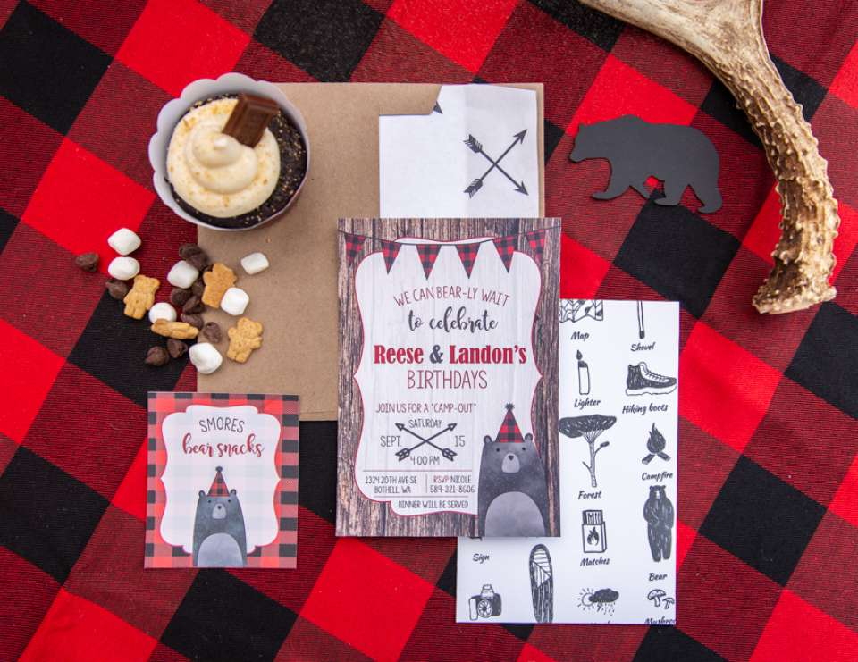 Kids Outdoor Camping Birthday Bash - Lumberjack