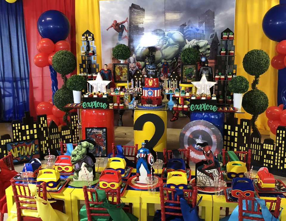 Christian's Superhero Birthday - Superheroes