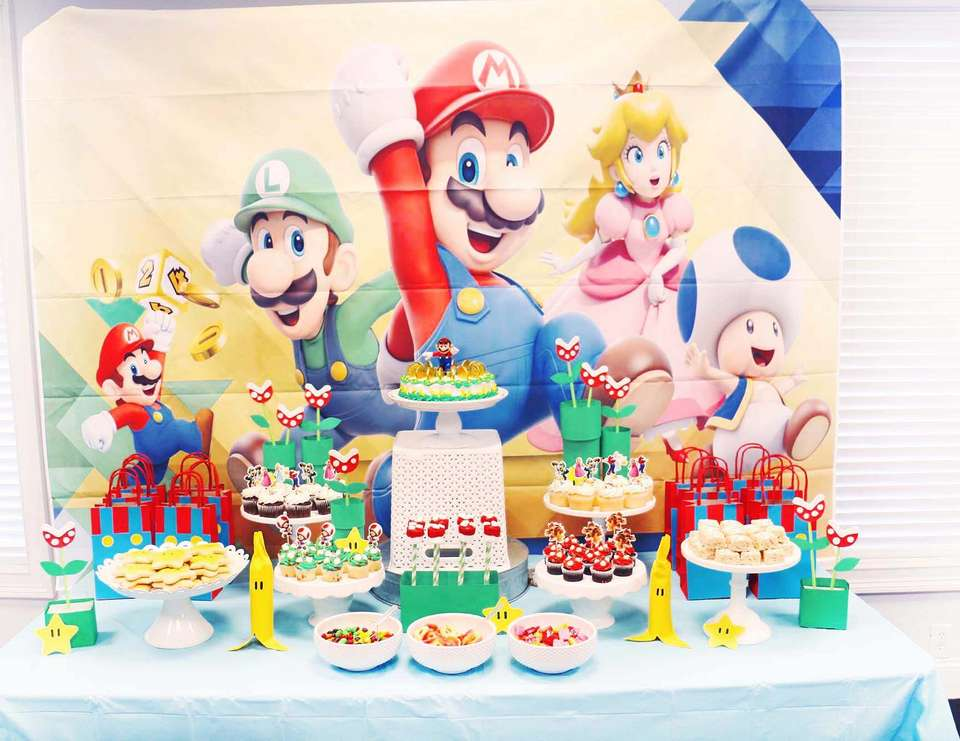 Micah's Mario Themed Birthday Party - Super Mario Bros