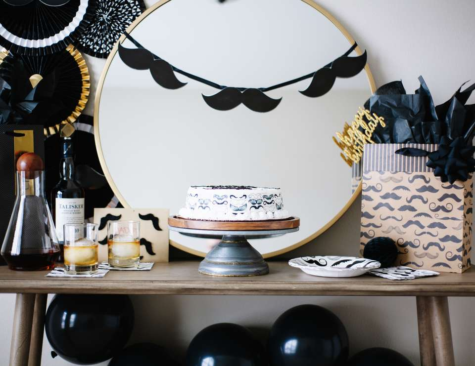 Mustache Birthday Party Idea - Mustache