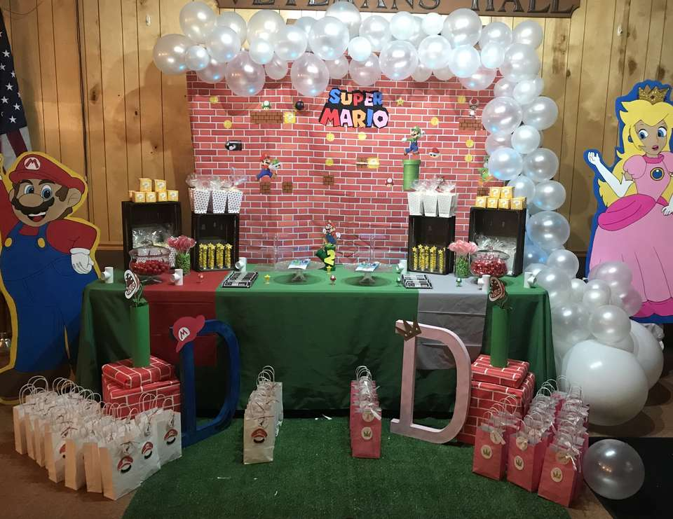 Twins Super Mario and princess peach 2nd Birthday  - Super Mario Bros & Princess Peach