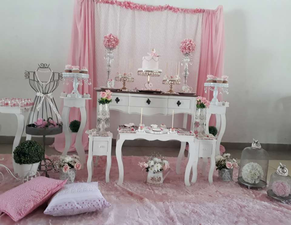 Shabby Chic 1st birthday party - Primer añito