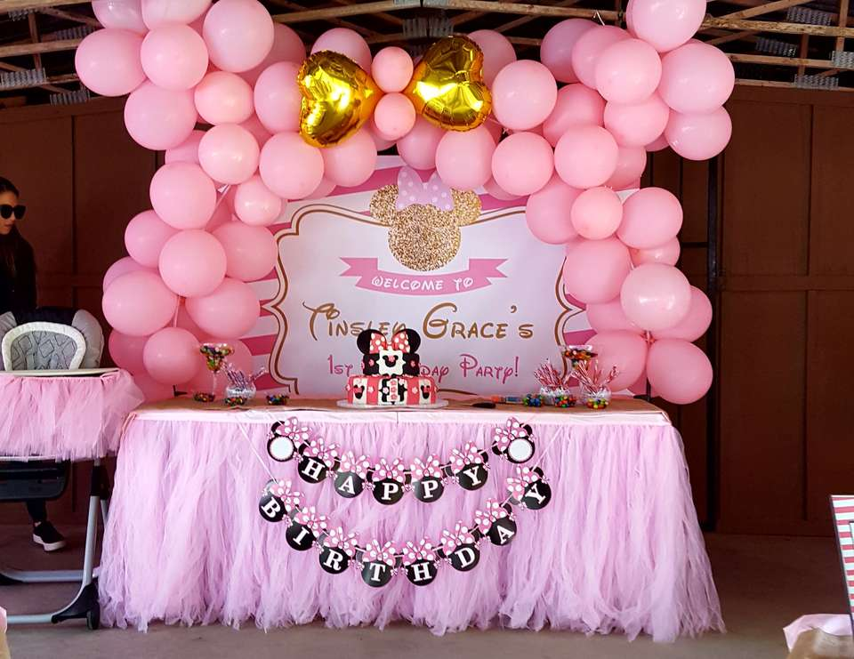 Pretty in Pink Minnie Mouse First Birthday Party - Minnie Mouse