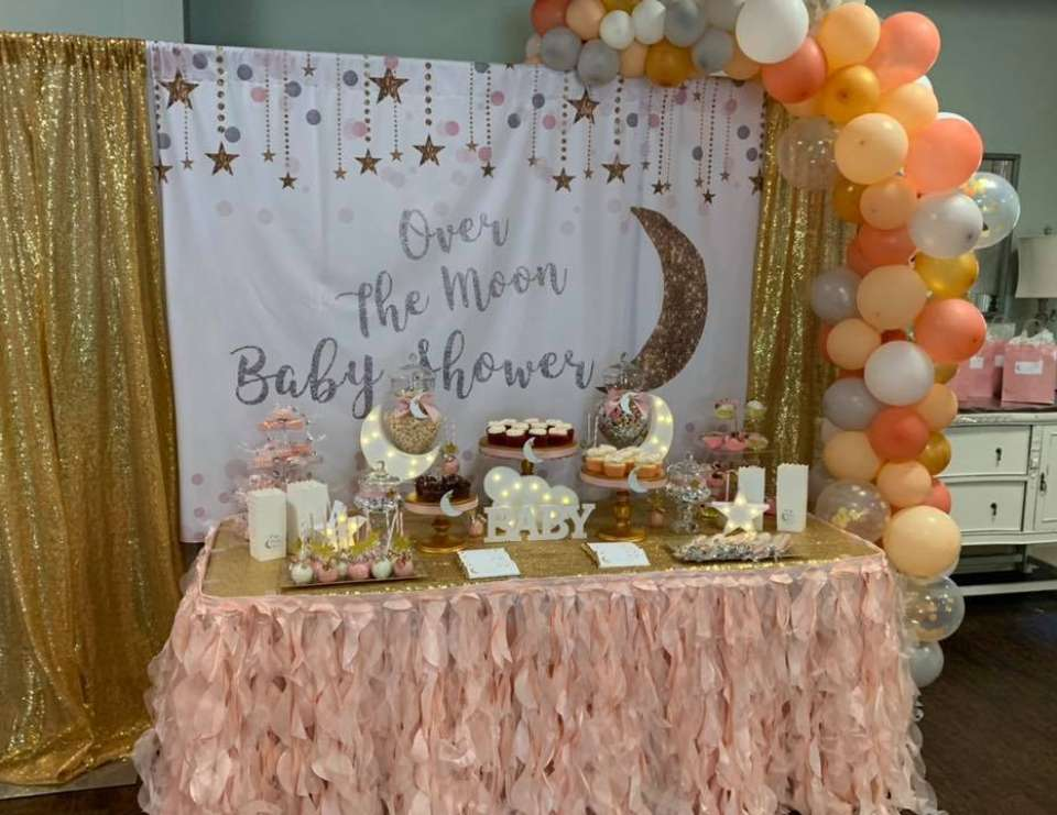 Over the Moon Baby Shower  - Over the Moon
