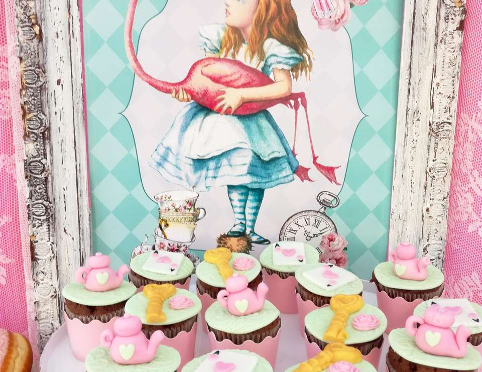 Shabby Chic Alice in Wonderland Baptism - Alice in Wonderland