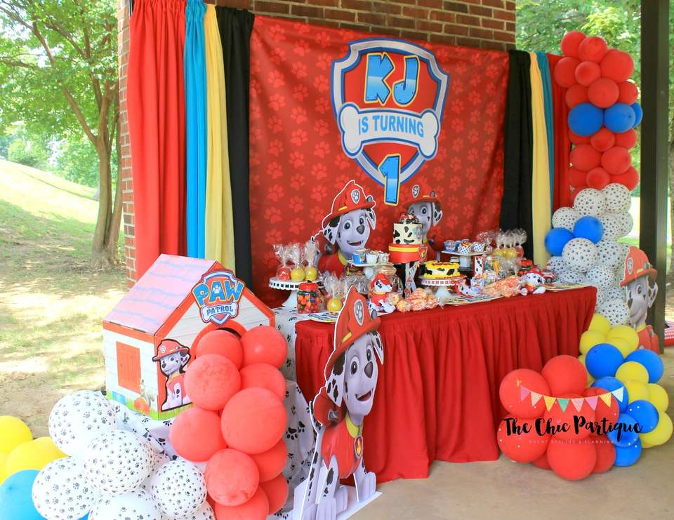 Kj's Marshall Paw Patrol Party - Paw patrol Party