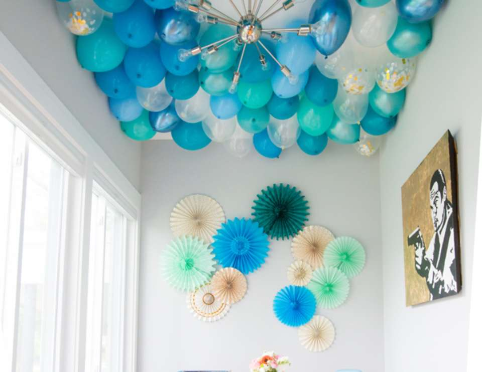 J + J's Coed Baby Shower - Blue Balloons