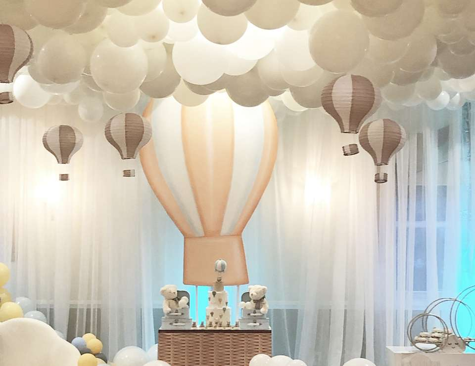 Up Up and Away Baby Shower - Hot Air Balloon