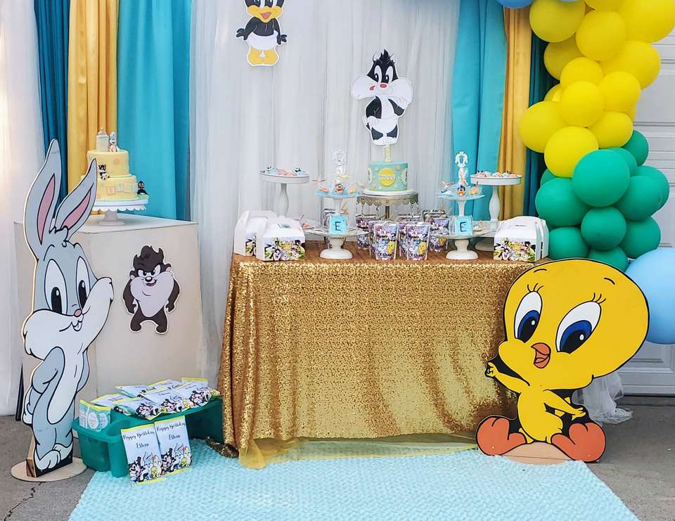 Ethan's 1st Birthday - Baby Looney Tunes