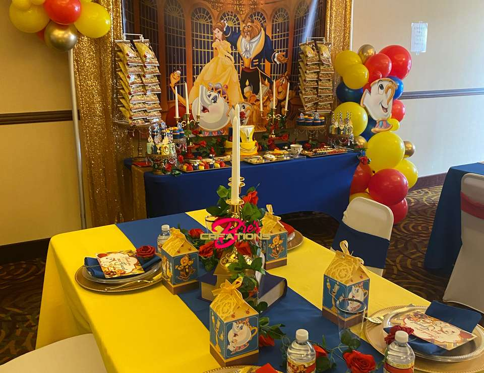 Beauty and The Beast Inspired Birthday  - Beauty and The Beast