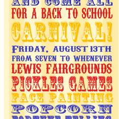 Back To School Carnival - Midway Style Carnival