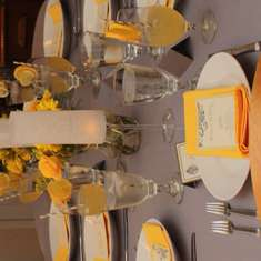 My Birthday Dinner Party - Yellow & Grey
