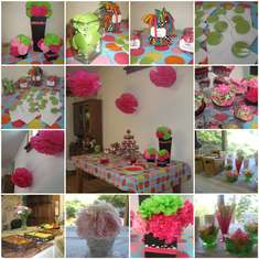 Green and Pink Polka Dot Bridal Shower - None