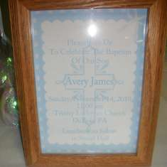 Baptism for Avery James  - Blue & White/Crosses
