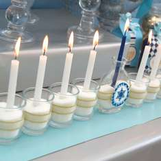 Hanukkah dessert table - None
